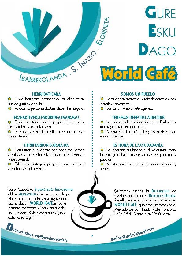 WORL CAFE ORRIALDE-ESKU ORRIA
