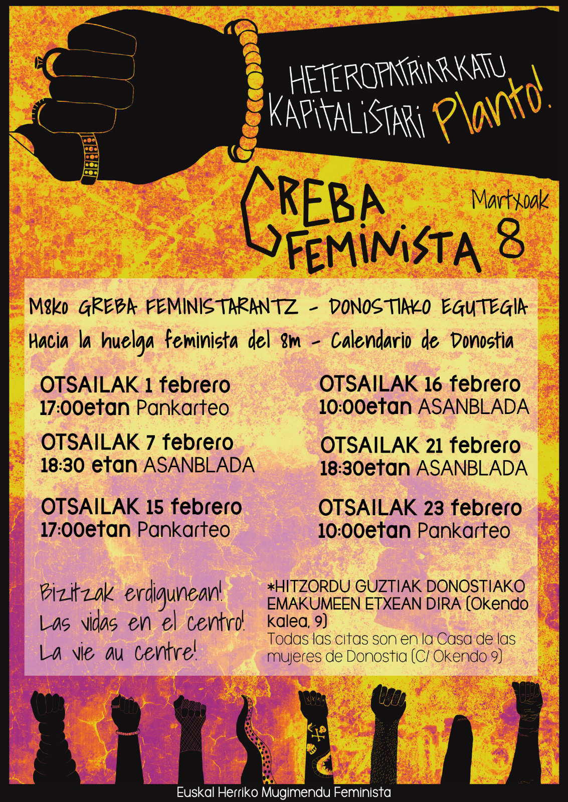 Calendario Laboral Donostia 2019.Hacia La Huelga Feminista Del 8m Calendario De Donostia Steilas